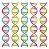 Uppsättning av DNAsymboler för vetenskap och medicin stock illustrationer