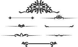 Uppsättning av drog tappningramar för svart hand för textgarnering i ve Royaltyfri Bild