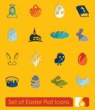 Uppsättning av easter symboler Royaltyfria Bilder