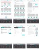 Uppsättning av ecommercewebsitemallar Homepage kategori, produkt royaltyfri illustrationer