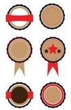 Uppsättning av emblem Royaltyfri Bild