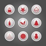 Uppsättning av emblem - jul Arkivbild