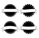 Uppsättning av emblemmallarna med band Royaltyfria Bilder