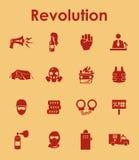 Uppsättning av enkla symboler för revolution Royaltyfri Fotografi