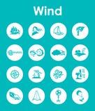 Uppsättning av enkla symboler för vind Royaltyfri Fotografi