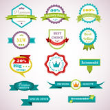 Uppsättning av etikettbegreppsvektorn Fotografering för Bildbyråer