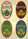Uppsättning av etiketter för öl Arkivbilder
