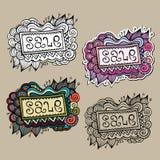 Uppsättning av etiketter för Sale naturvektor Royaltyfri Fotografi
