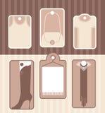 Uppsättning av etiketter för tillbehör eller kläder Arkivfoton