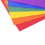 Uppsättning av ett färgkräppapperslut upp Arkivfoton