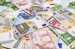 Uppsättning av eurosedlar Royaltyfri Bild