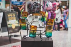 Uppsättning av exponeringsglas som göras av blåst exponeringsglas Fotografering för Bildbyråer