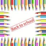 Uppsättning av färgade blyertspennor. Royaltyfria Bilder