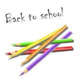 Uppsättning av färgade blyertspennor. Arkivfoton