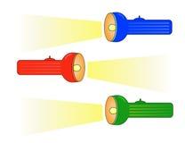 Uppsättning av färgglada lashlights. En vektorillustration Arkivbild