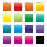 Uppsättning av färgknappar, vektorillustration Arkivfoto