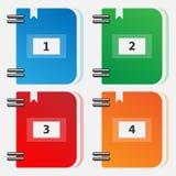 Uppsättning av färgmappar för mappar stock illustrationer