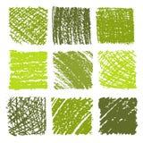 Uppsättning av färgpenna drog texturer Royaltyfri Fotografi
