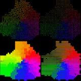 Uppsättning av färgrik bakgrund för abstrakt regnbåge Arkivbild