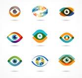 Uppsättning av färgrika ögonsymboler Royaltyfria Bilder