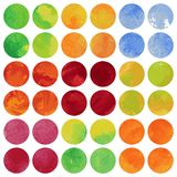 Uppsättning av färgrika akvarellbaner. Royaltyfri Bild