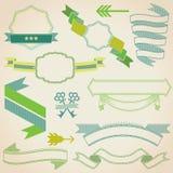 Uppsättning av färgrika band stock illustrationer