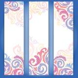 Uppsättning av färgrika baner. Royaltyfri Fotografi