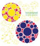 Uppsättning av färgrika cirklar Arkivfoto