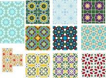 Uppsättning av färgrika islamiska modeller royaltyfri fotografi