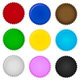 Uppsättning av färgrika kapsyler vektor Royaltyfria Foton
