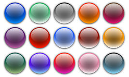 Uppsättning av färgrika knappar för vektorrengöringsduksfär Arkivbild
