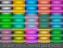 Uppsättning av färgrika linjer bakgrunder ändra den lätta guldmodellen för färger till Royaltyfri Fotografi