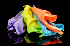 Uppsättning av färgrika microfibertorkdukar Royaltyfria Bilder