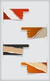 Uppsättning av färgrika sönderrivna tomma klistermärkear. Arkivfoto