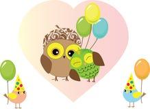 Uppsättning av fågelförälskelse vektor illustrationer