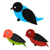 Uppsättning av fågelvektorn Arkivbilder