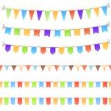 Uppsättning av födelsedagflaggor Royaltyfria Bilder