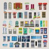 Uppsättning av fönster - Fotografering för Bildbyråer