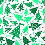 Uppsättning av för grön den sömlösa modellen eps10 trädgarnering för jul Arkivfoton