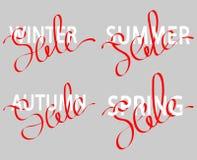 Uppsättning av försäljningen av bokstäver Arkivbild