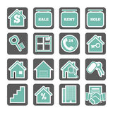 Uppsättning av fastighetsymboler Arkivbild
