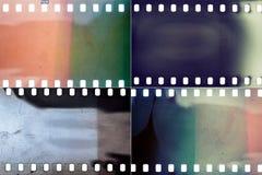 Uppsättning av filmtexturer royaltyfria foton