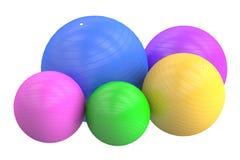 Uppsättning av Fitballs, tolkning 3D Arkivbild
