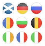 Uppsättning av flaggor, Europa, samling Royaltyfria Bilder