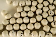 Uppsättning av flera bingobollar Royaltyfri Bild