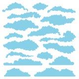 Uppsättning av fluffiga moln för designorienteringar vektor Arkivbilder