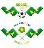 Uppsättning av fotbolltecken Royaltyfria Bilder
