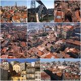 Uppsättning av fotoet från Porto i Portugal Arkivfoto