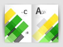 Uppsättning av framdelen och tillbaka sidor för format a4, mallar för affärsårsrapportdesign Royaltyfria Bilder