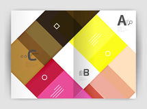 Uppsättning av framdelen och tillbaka sidor för format a4, mallar för affärsårsrapportdesign Fotografering för Bildbyråer